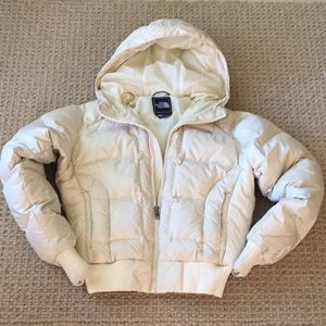 The North Face womens Small Cream DOWN Jacket